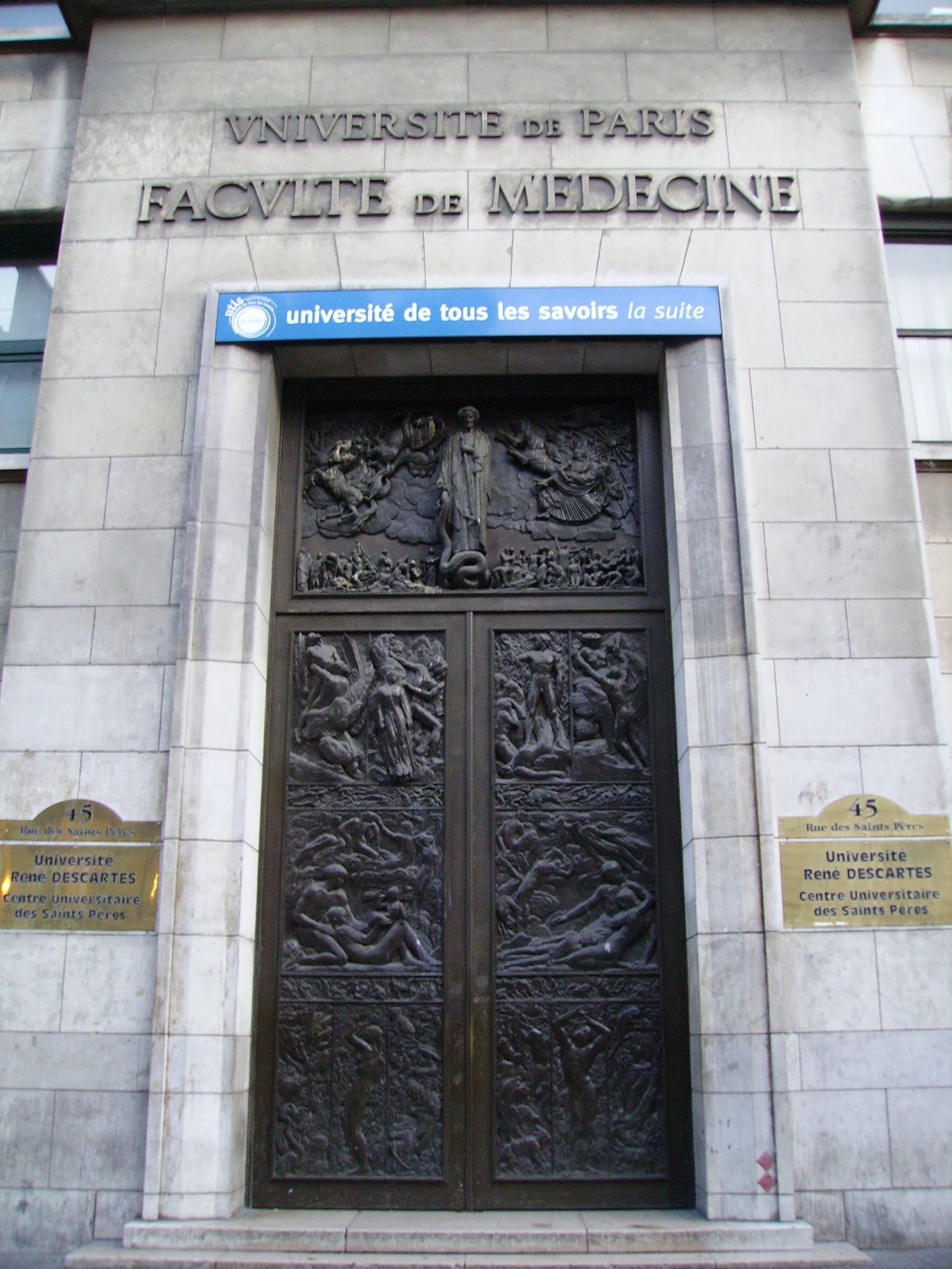 Porte de la faculté de médecine