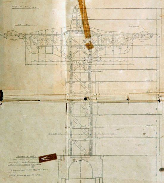 Le plan de la statue