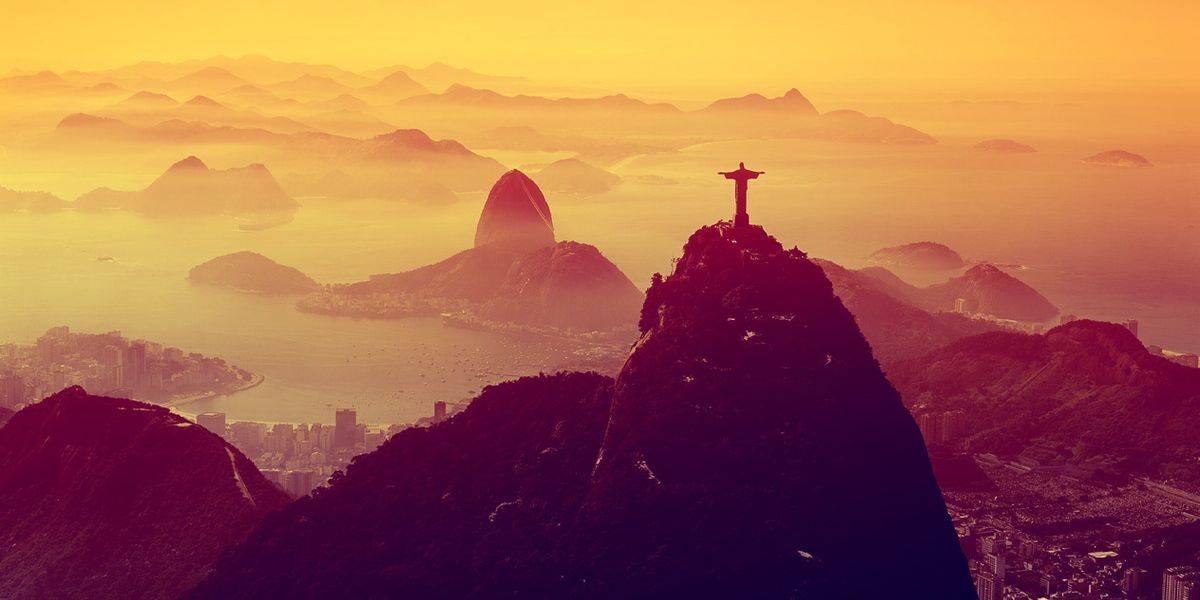 Paysage de Rio le soir