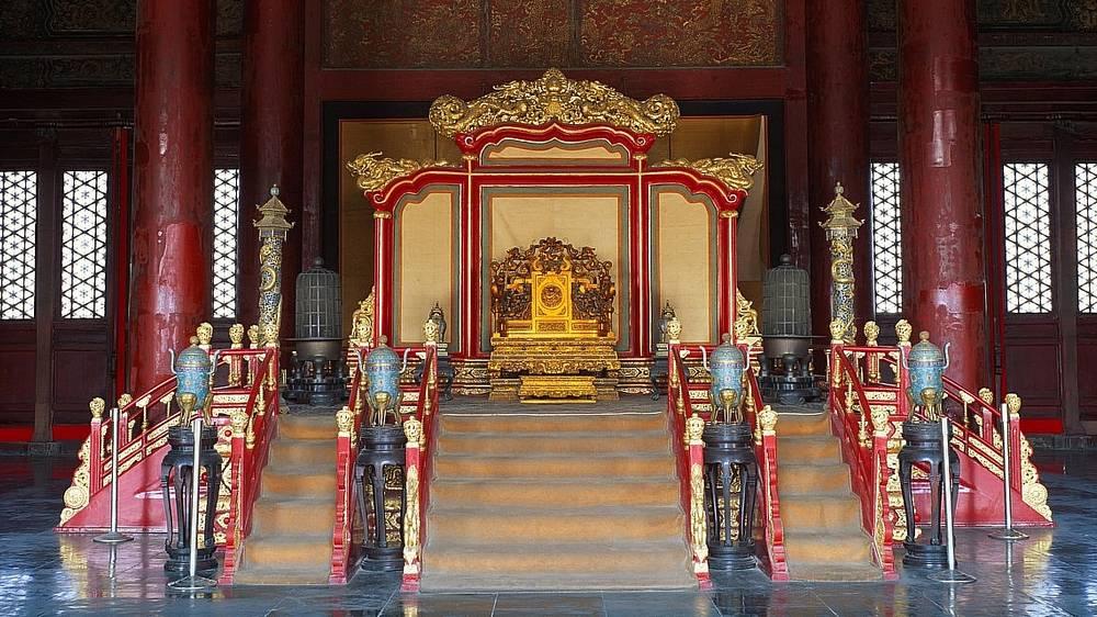 Trône du palais de la pureté céleste