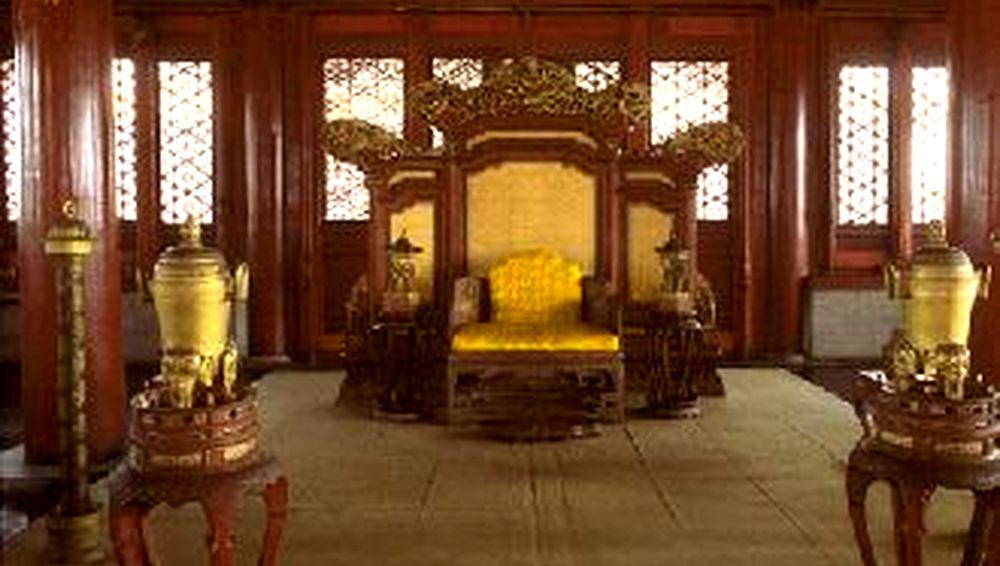 Le trône du pavillon de l'harmonie préservée