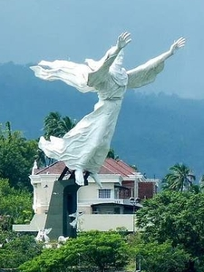 Christ Blessing Statue