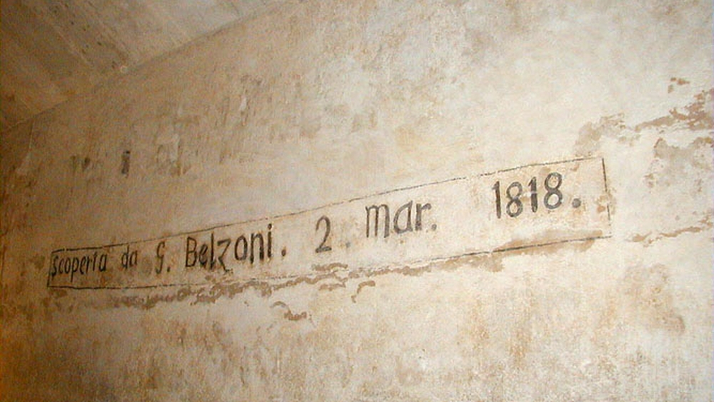 Inscription de Belzoni