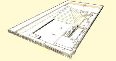 Schéma du complexe funéraire de Djéser