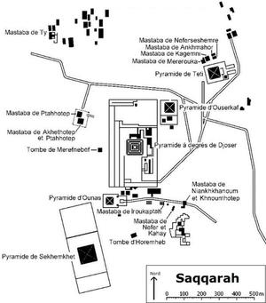 Plan des principales tombes (Cliquez pour agrandir)