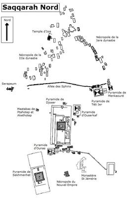 Plan de Saqqarah Nord (Cliquez pour agrandir)