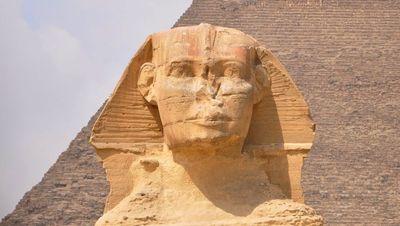 Le visage du Sphinx d'Egypte
