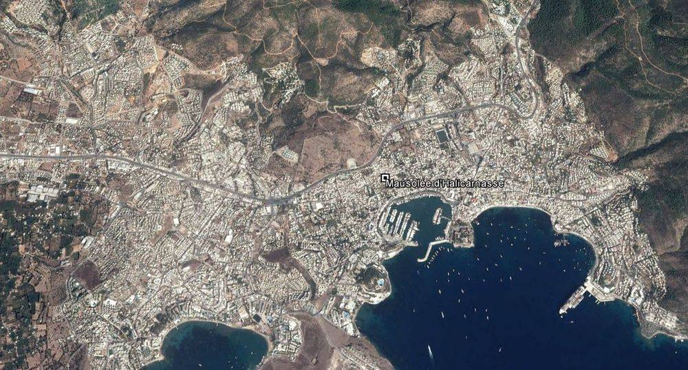 Vue aérienne de Bodrum