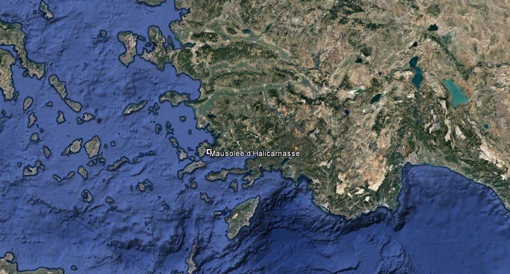Vue aérienne de la Turquie