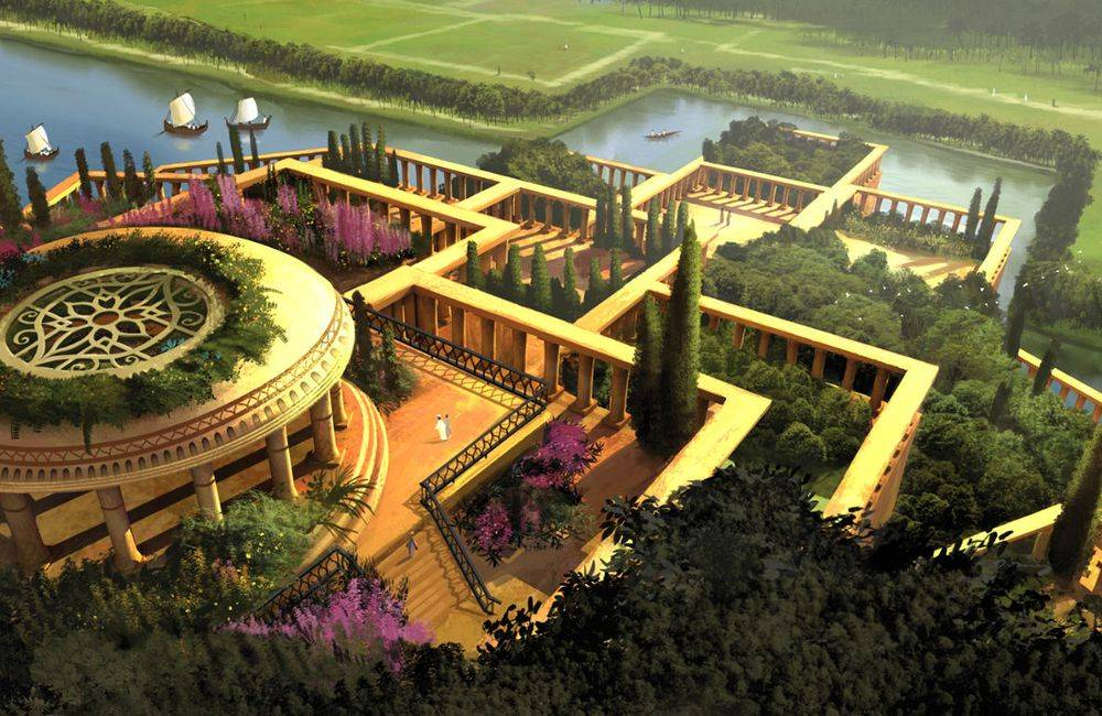 7-merveilles-du-monde-jardin-suspendu - Photo