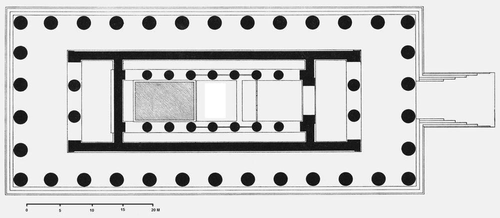 Plan du temple de Zeus