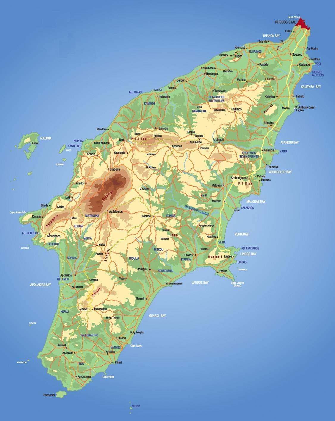 Carte de Rhodes