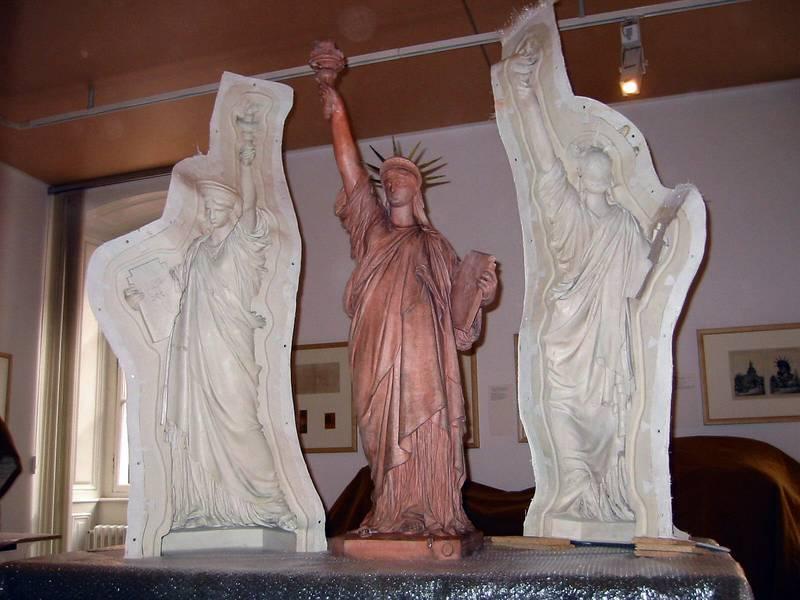 Le moule de la statue de la Liberté