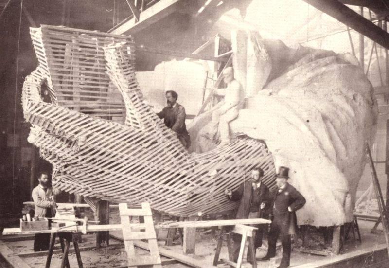 Célèbre Construction de la Statue de la Liberté, de sa charpente et du socle KW18