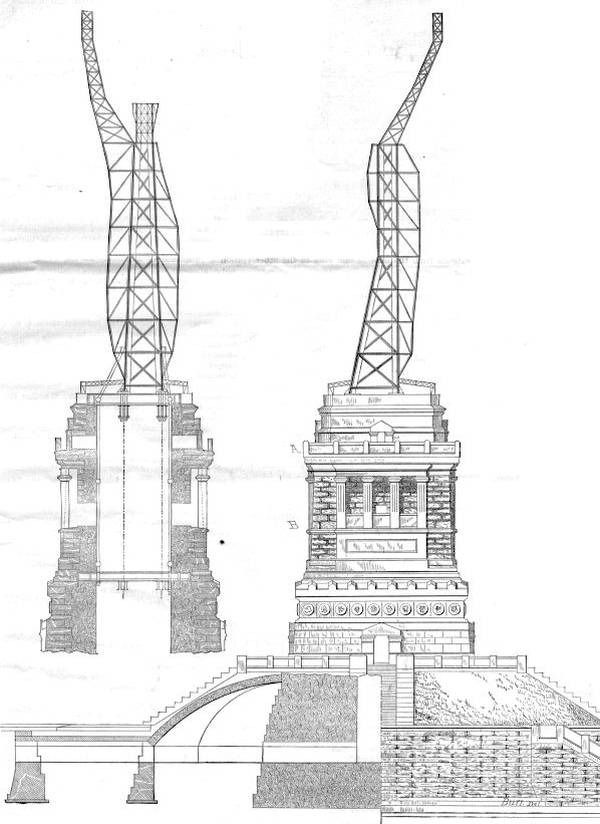 Structure de la statue