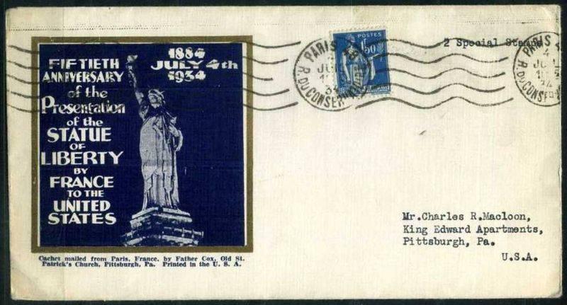Enveloppe à l'effigie de Miss Liberty