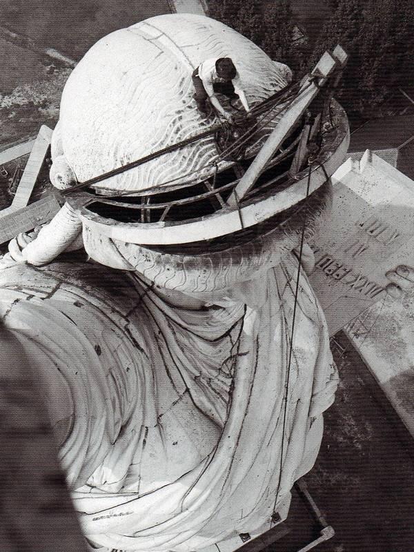 Les travaux de réparation, en 1938