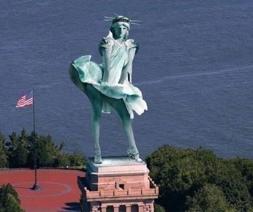 Super Humour sur la statue de la Liberté IO99