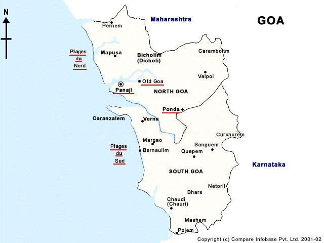 mapa de Goa