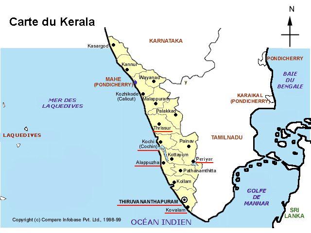 Carte Kerala