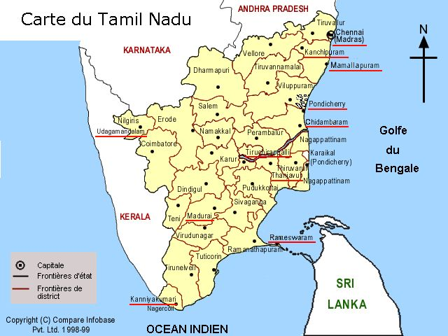 Carte Tamil-Nadu