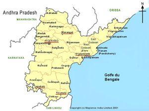 Carte d'Andhra Pradesh