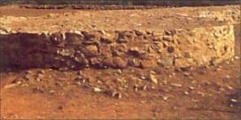 Les ruines du fort d'Ajatshatru