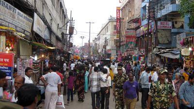 Une rue d'Agra, de nos jours