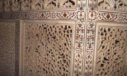 Balustrade à l'intérieur du Taj Mahal