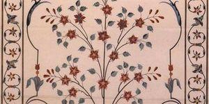 Décorations florales du cénotaphe de Mumtaz Mahal