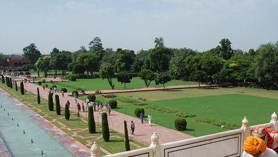 Les jardins du Taj Mahal