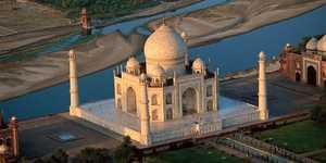 La terrasse du Taj Mahal