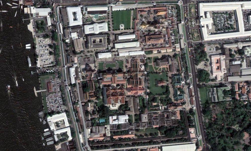 Vue aérienne du palais royal
