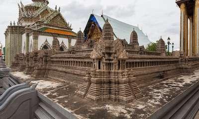 La maquette d'Angkor Vat