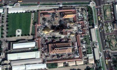 Vue aérienne du temple