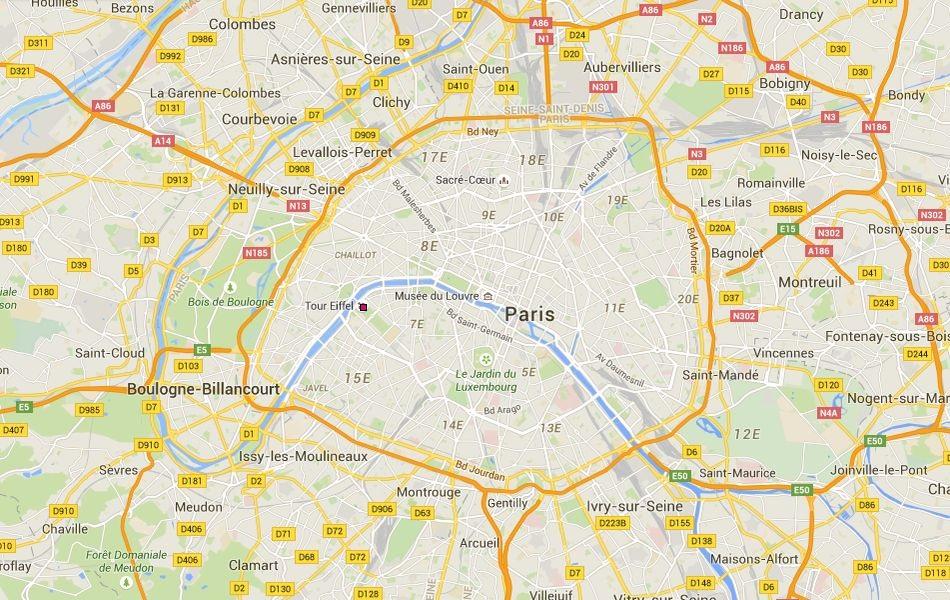 Plan De Ville De Paris