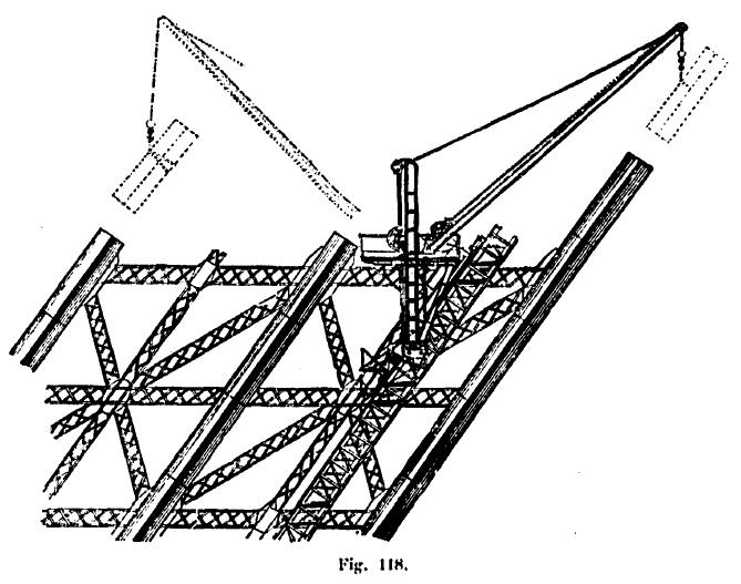 Schéma de la grue de montage