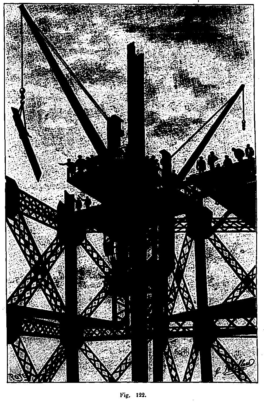 Grue de montage de la tour Eiffel