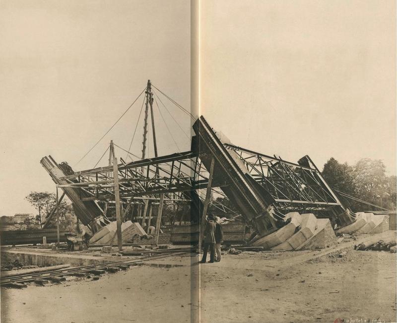 Le départ des piles de la tour Eiffel