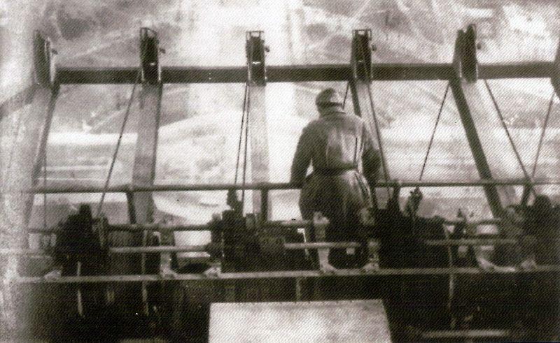 Le départ des antennes au 3e étage