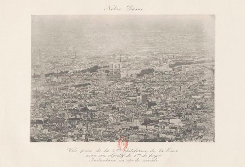 Vue de la tour Eiffel : La cathédrale Notre Dame
