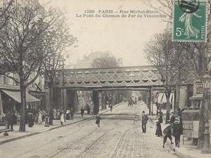 Pont ferroviaire à Paris, France