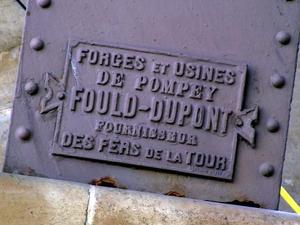 Plaque Fould-Dupont