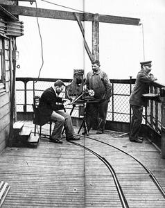 Mr Ducretet lors de la première liaison radio