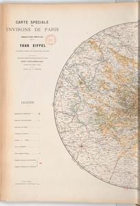 Carte des environs de Paris