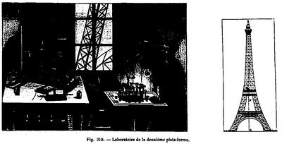 Le laboratoire du 2e étage de la tour Eiffel