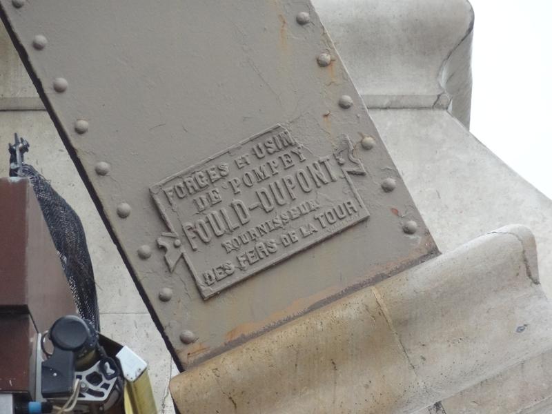 Plaque indiquant l'origine du fer