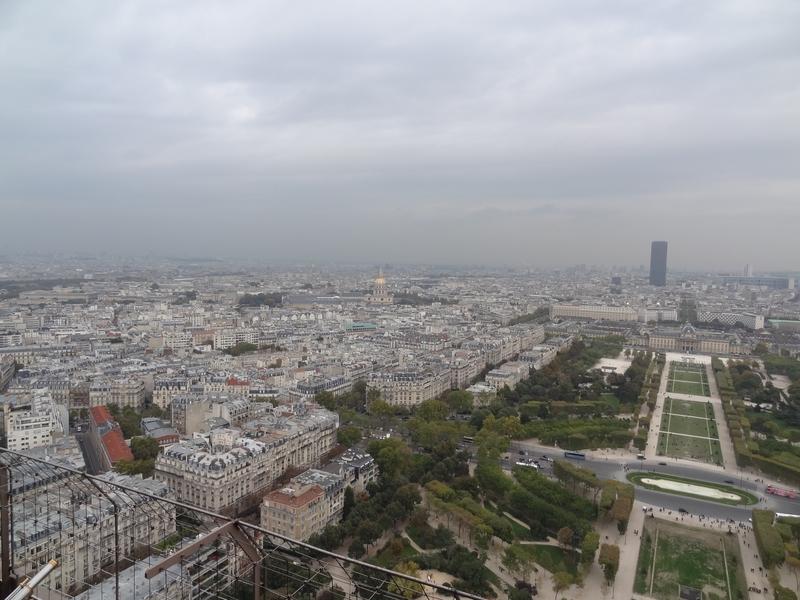 Paris vu du 2e étage de la tour Eiffel