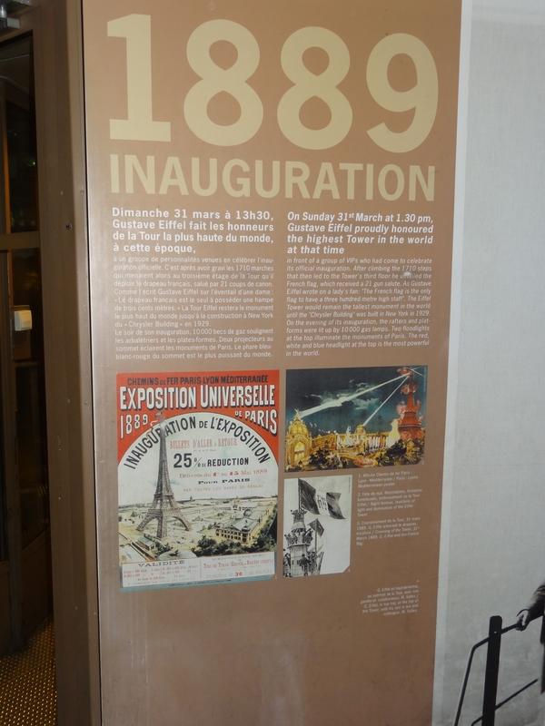 Panneau expliquant l'inauguration