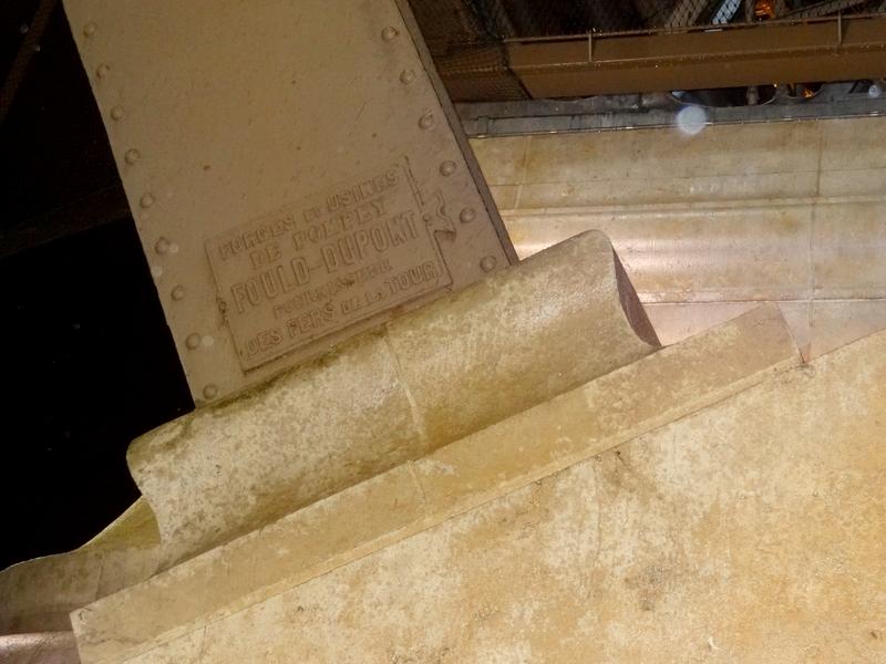 Inscription indiquant l'origine du fer de la tour
